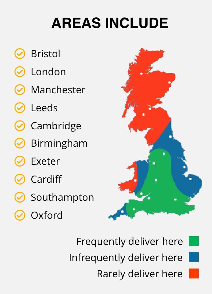 Areas Include small